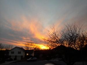 sunset in Olathe