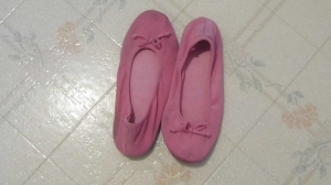 Pink Slippers - Amy B