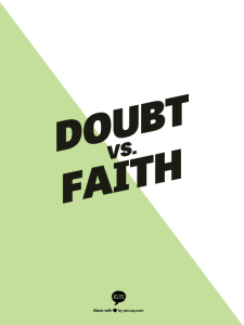 doubt vs faith