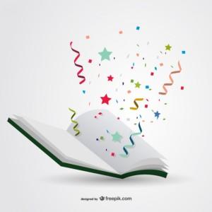 book w- confetti