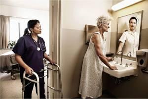 Alz lady - nurse