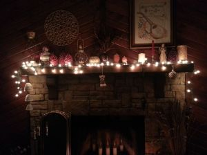 mantel after Xmas