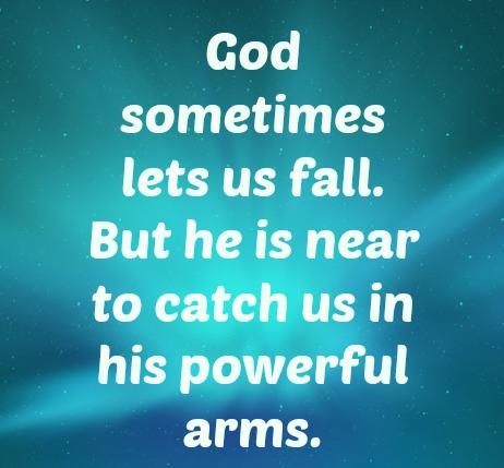 God lets us fall