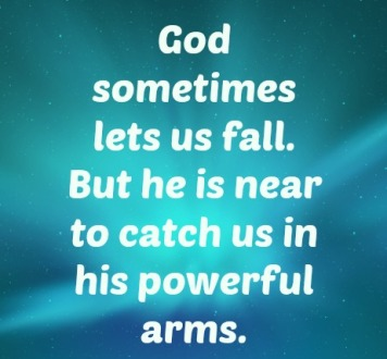 God lets us fall