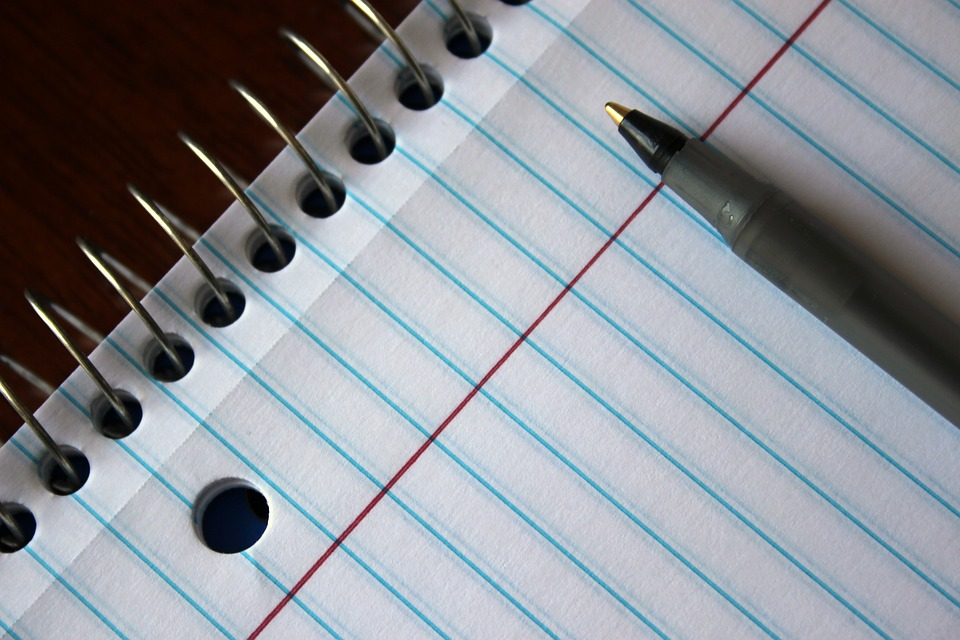 writing - notebook and pen
