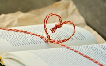 heart and book string