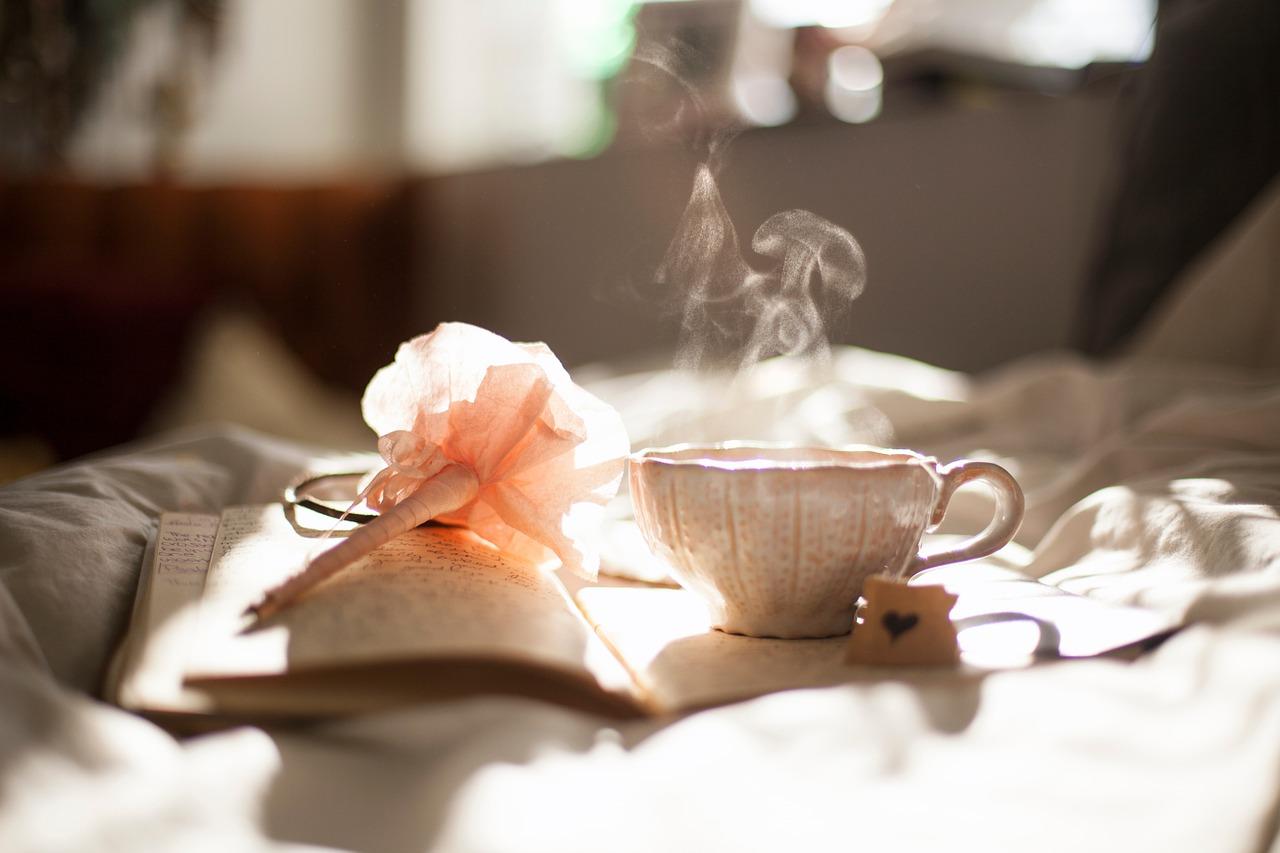tea cup - flower - journal