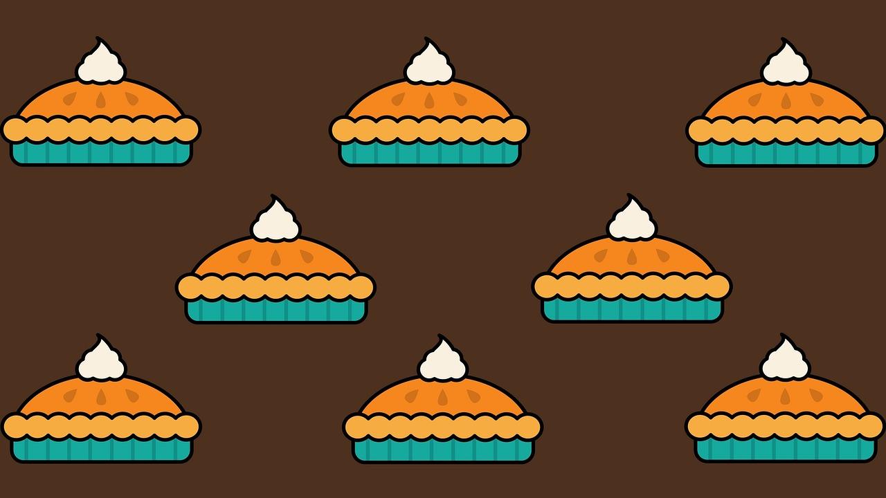 pumpkin pies - cartoon