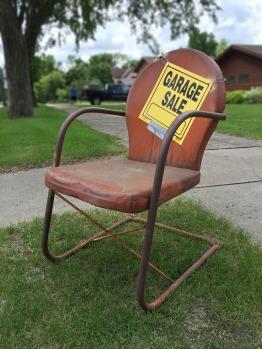 garage sale chair